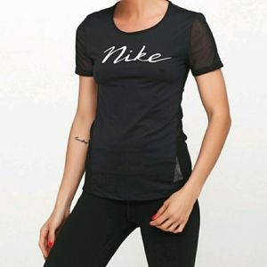 NIKE black with mesh back and sleeves